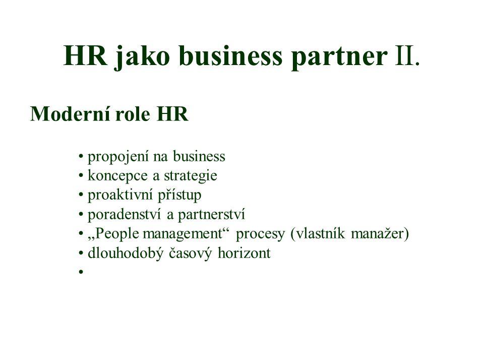 HR jako business partner II.