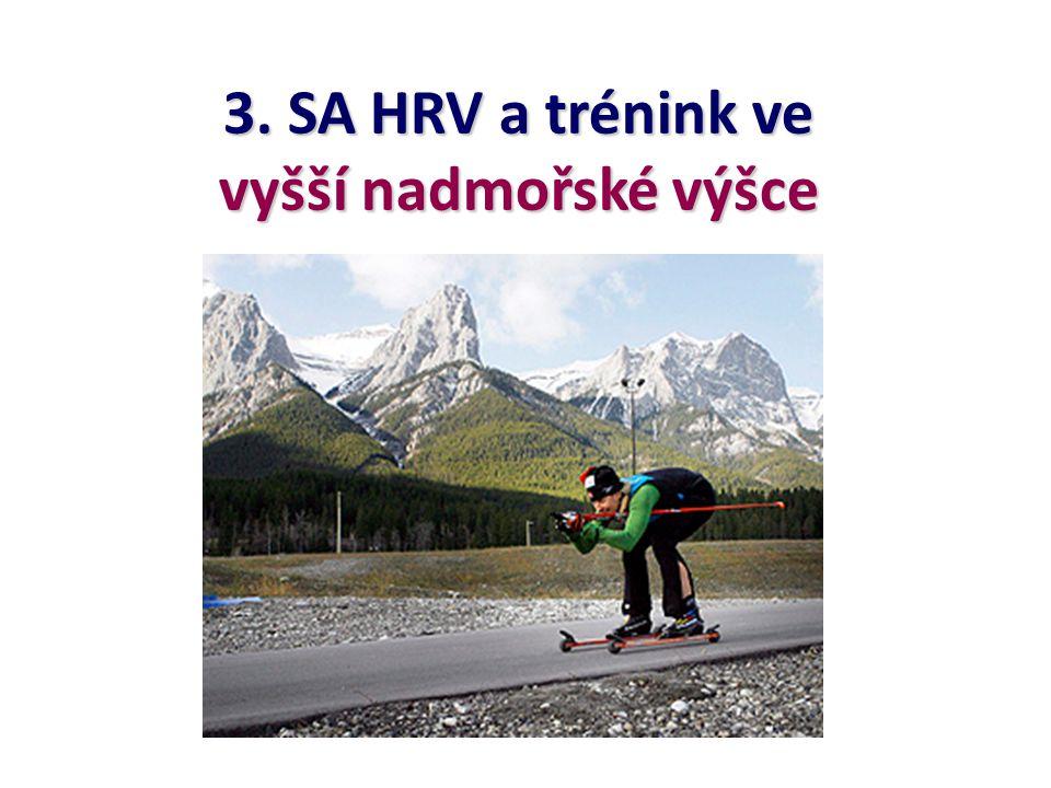 3. SA HRV a trénink ve vyšší nadmořské výšce