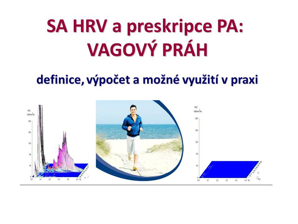 SA HRV a preskripce PA: VAGOVÝ PRÁH definice, výpočet a možné využití v praxi