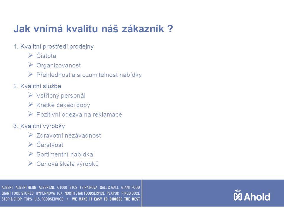 Jak vnímá kvalitu náš zákazník ? 1. Kvalitní prostředí prodejny  Čistota  Organizovanost  Přehlednost a srozumitelnost nabídky 2. Kvalitní služba 