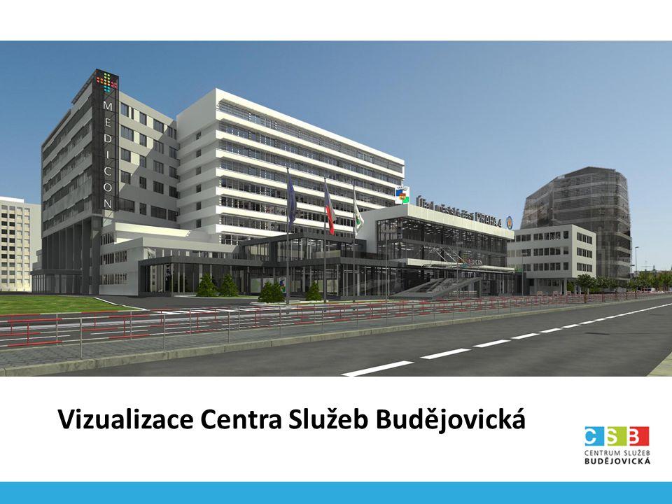 Vizualizace Centra Služeb Budějovická
