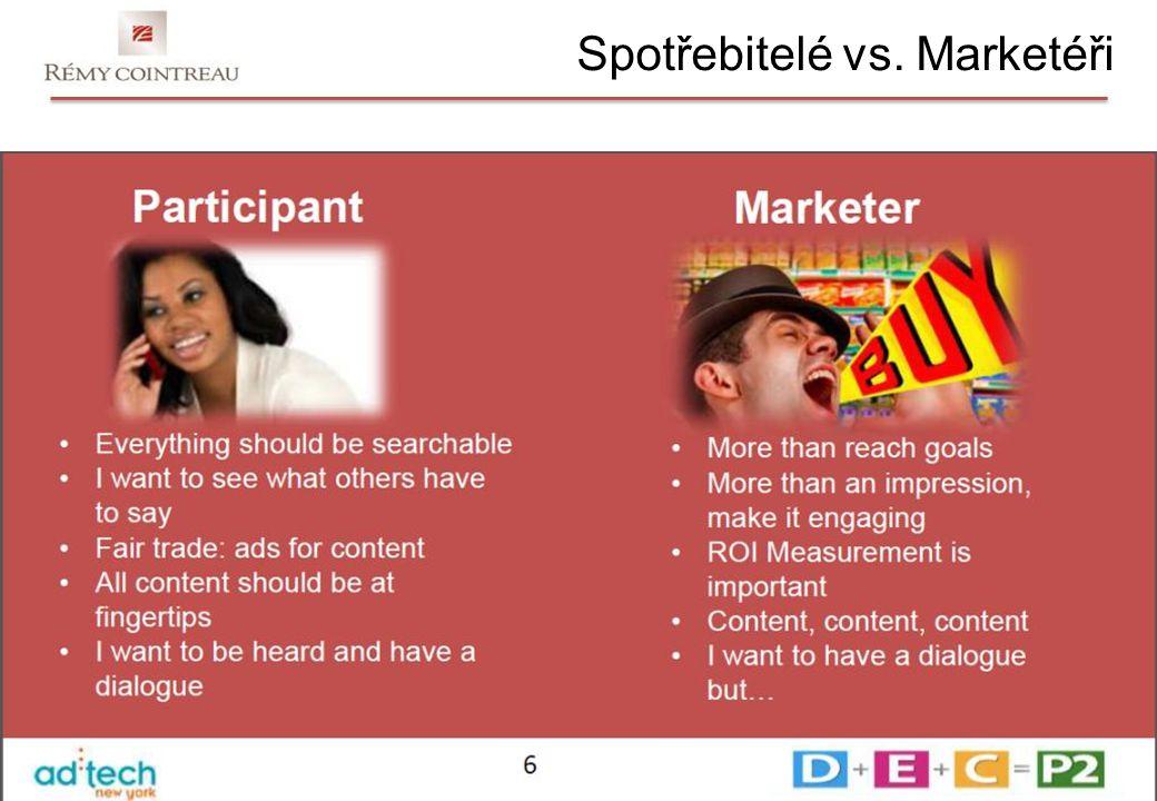 Spotřebitelé vs. Marketéři