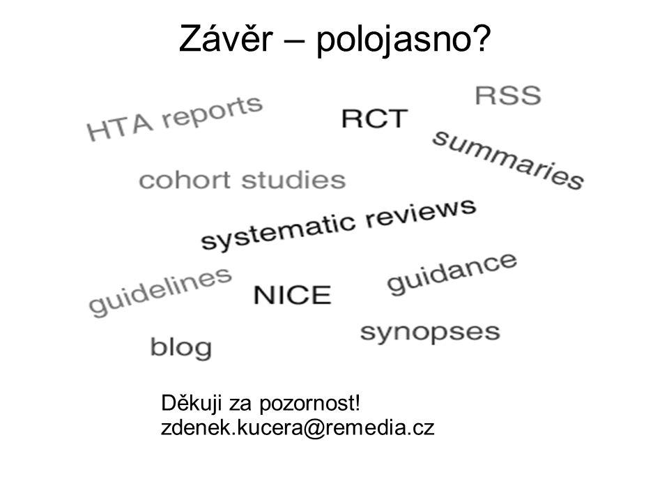 Závěr – polojasno? Děkuji za pozornost! zdenek.kucera@remedia.cz
