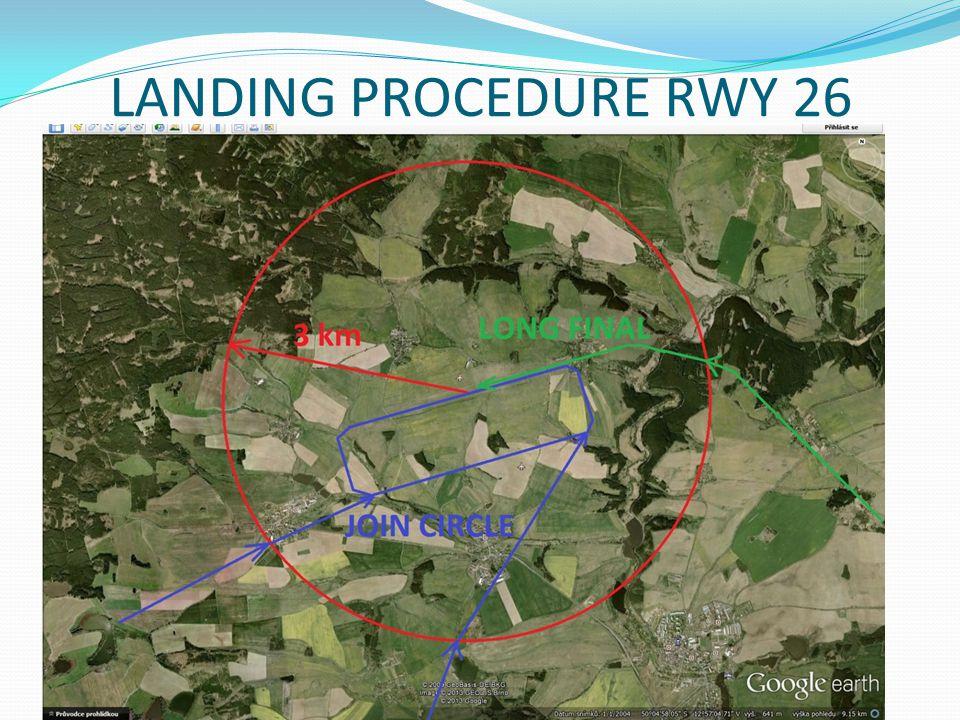 LANDING PROCEDURE RWY 26