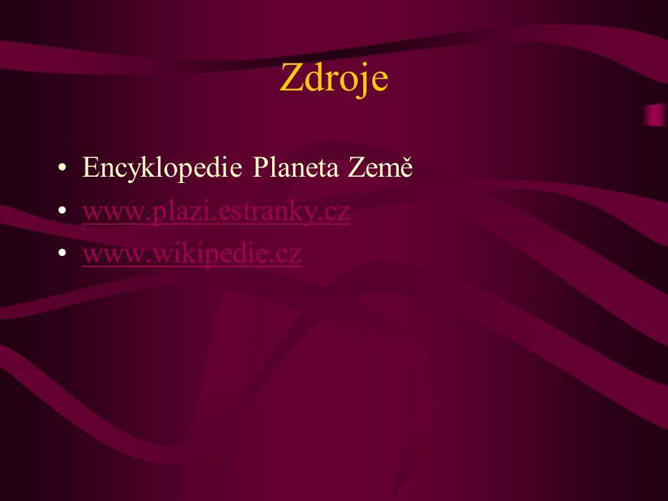 Zdroje Encyklopedie Planeta Země www.plazi.estranky.cz www.wikipedie.cz