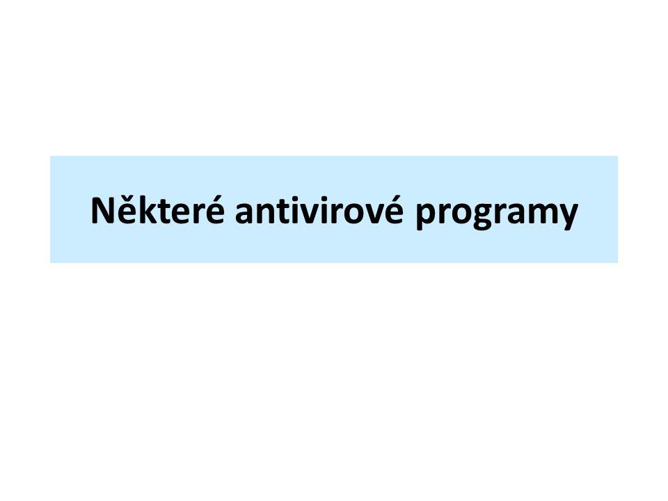 Některé antivirové programy