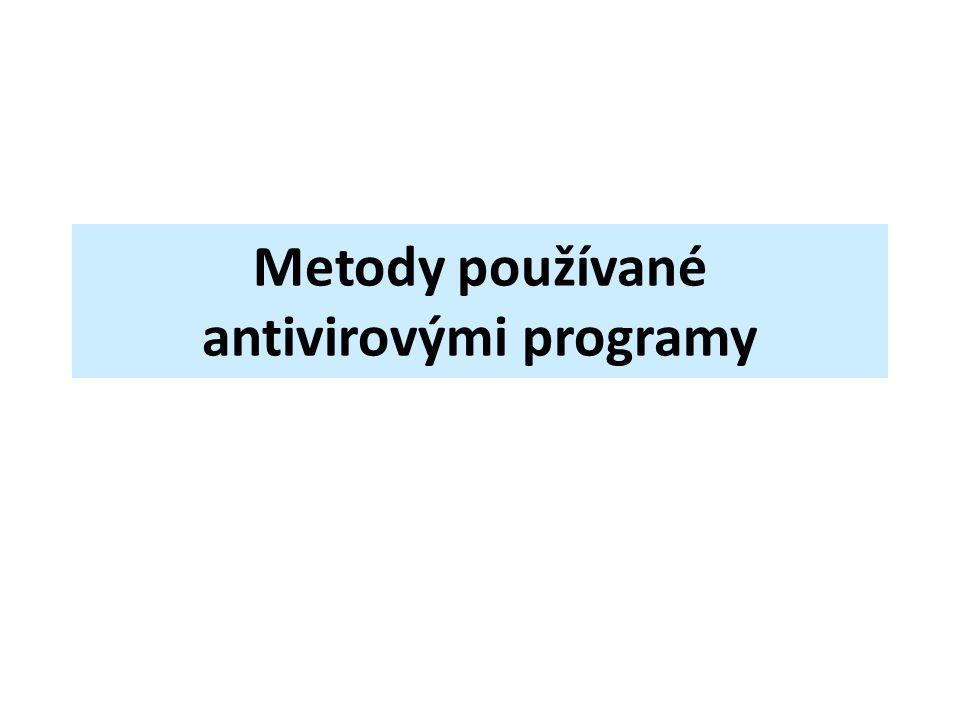 Metody používané antivirovými programy
