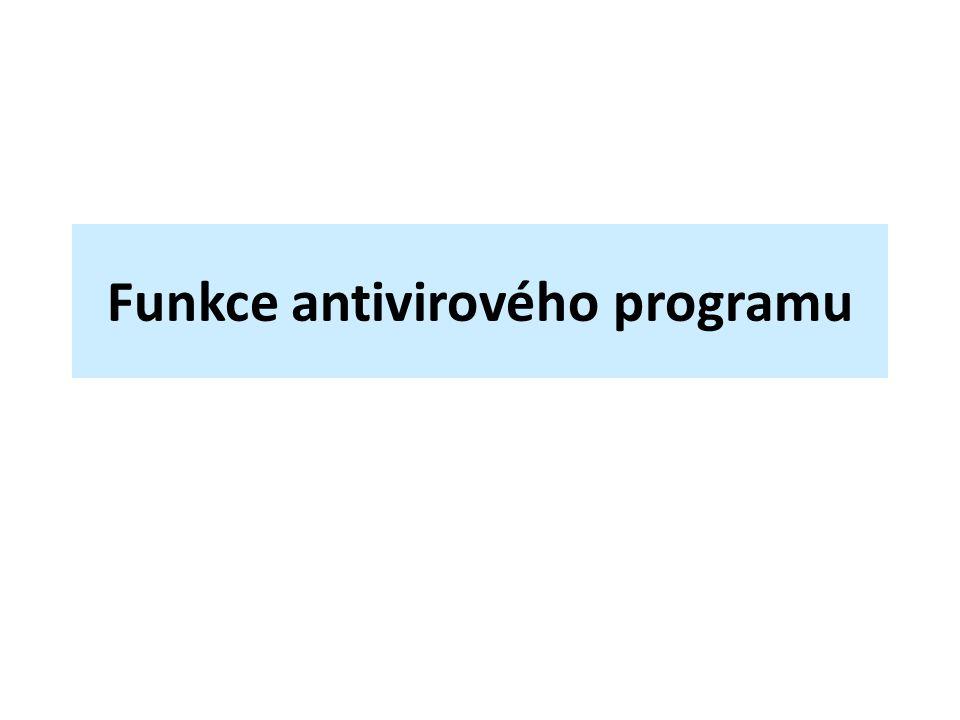 Funkce antivirového programu