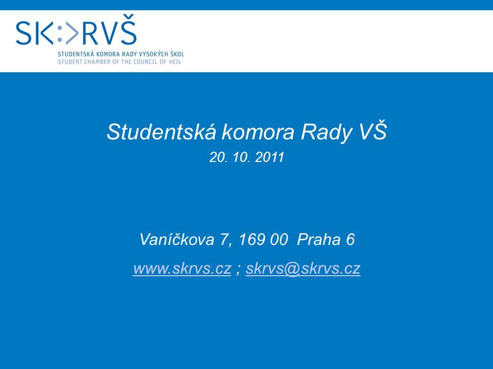 Studentská komora Rady VŠ 20. 10.