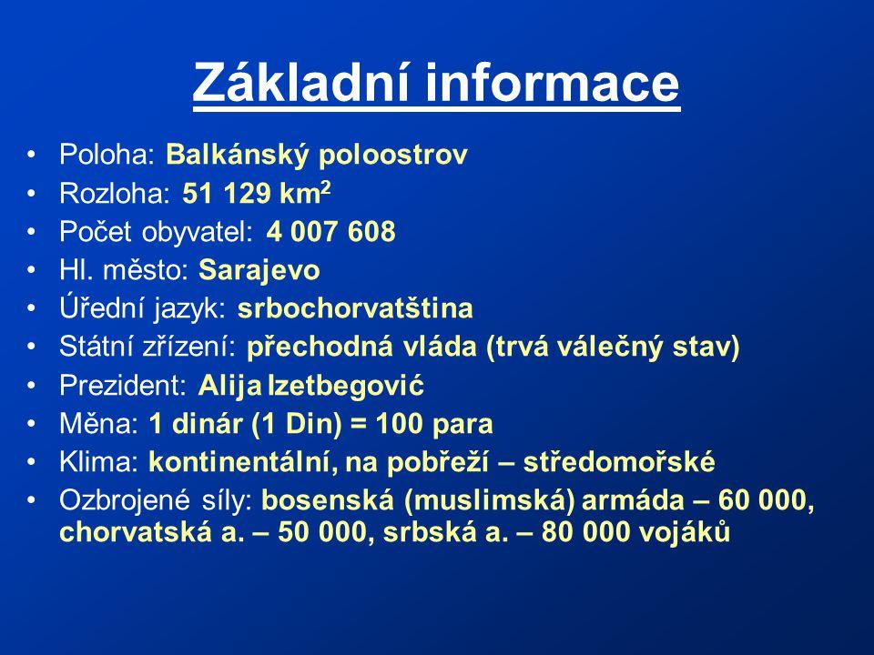 Základní informace Poloha: Balkánský poloostrov Rozloha: 51 129 km 2 Počet obyvatel: 4 007 608 Hl.
