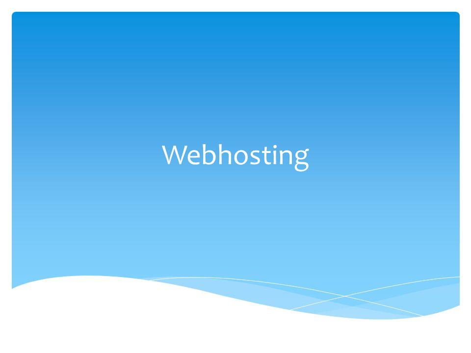 Webhosting je pronájem prostoru pro webové stránky na cizím serveru.