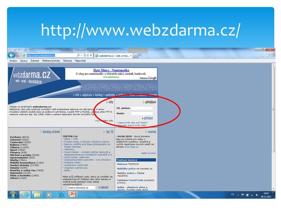 http://www.webzdarma.cz/