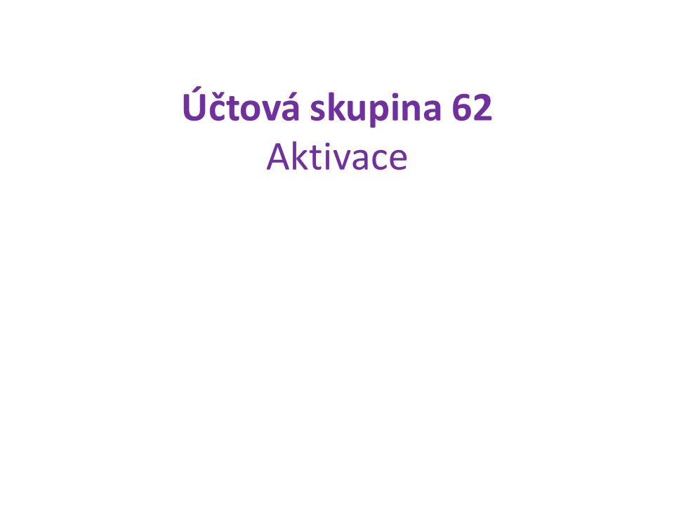 Účtová skupina 62 Aktivace