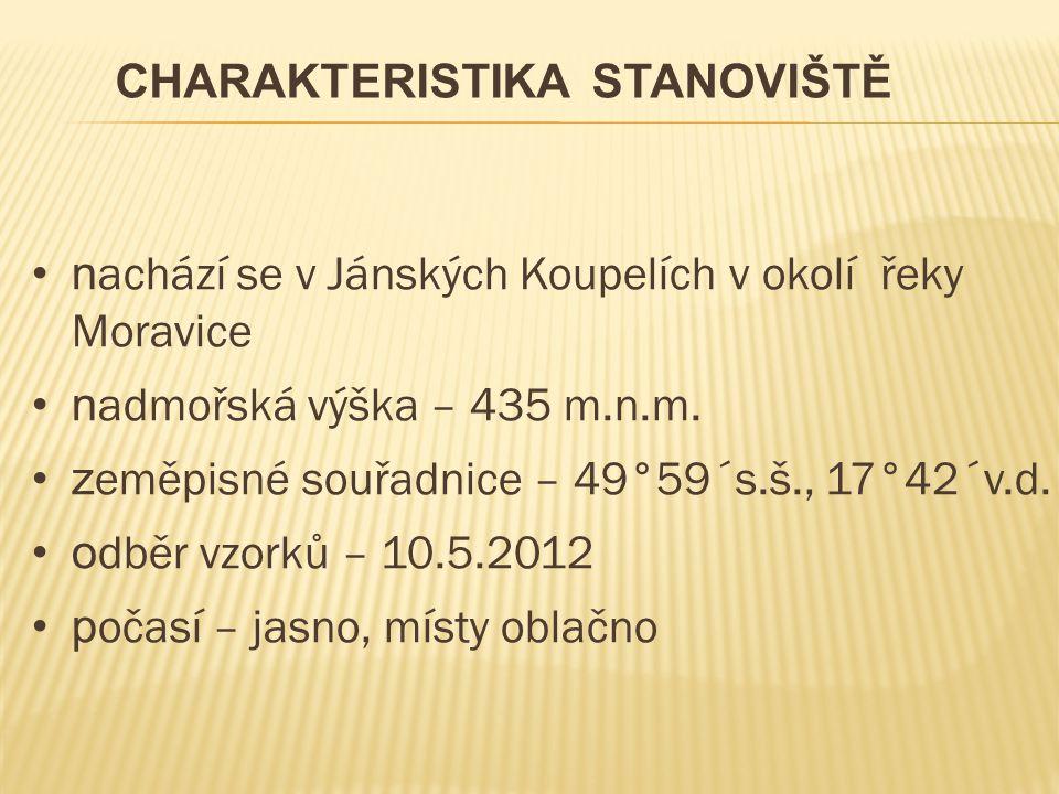 n achází se v Jánských Koupelích v okolí řeky Moravice n admořská výška – 435 m.n.m.