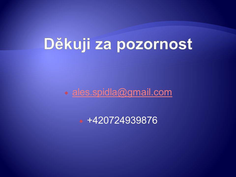  ales.spidla@gmail.com ales.spidla@gmail.com  +420724939876