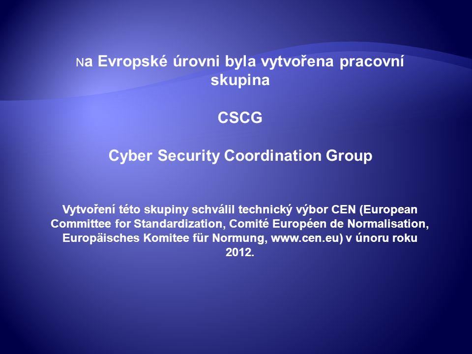 CSCG působí jako poradní a koordinační orgán rady CEN v technických, politických a strategických otázkách, týkajících se standardizace kybernetické bezpečnosti.