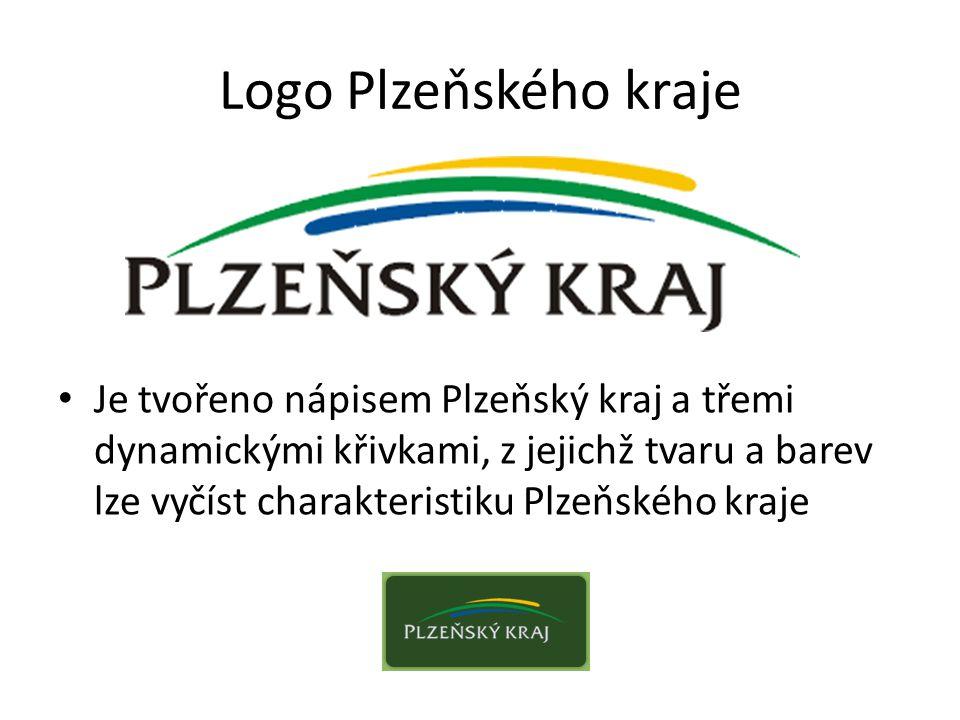Logo Plzeňského kraje Je tvořeno nápisem Plzeňský kraj a třemi dynamickými křivkami, z jejichž tvaru a barev lze vyčíst charakteristiku Plzeňského kra