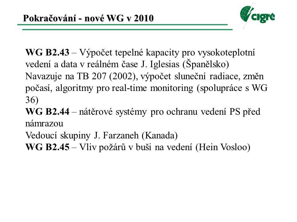 WG B2.43 – Výpočet tepelné kapacity pro vysokoteplotní vedení a data v reálném čase J.