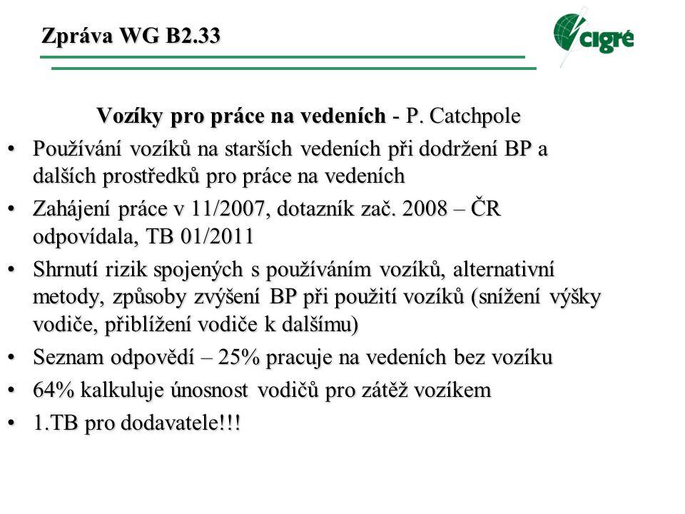 Zpráva WG B2.33 Vozíky pro práce na vedeních - P.