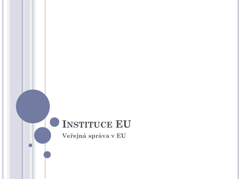 I NSTITUCE EU Veřejná správa v EU