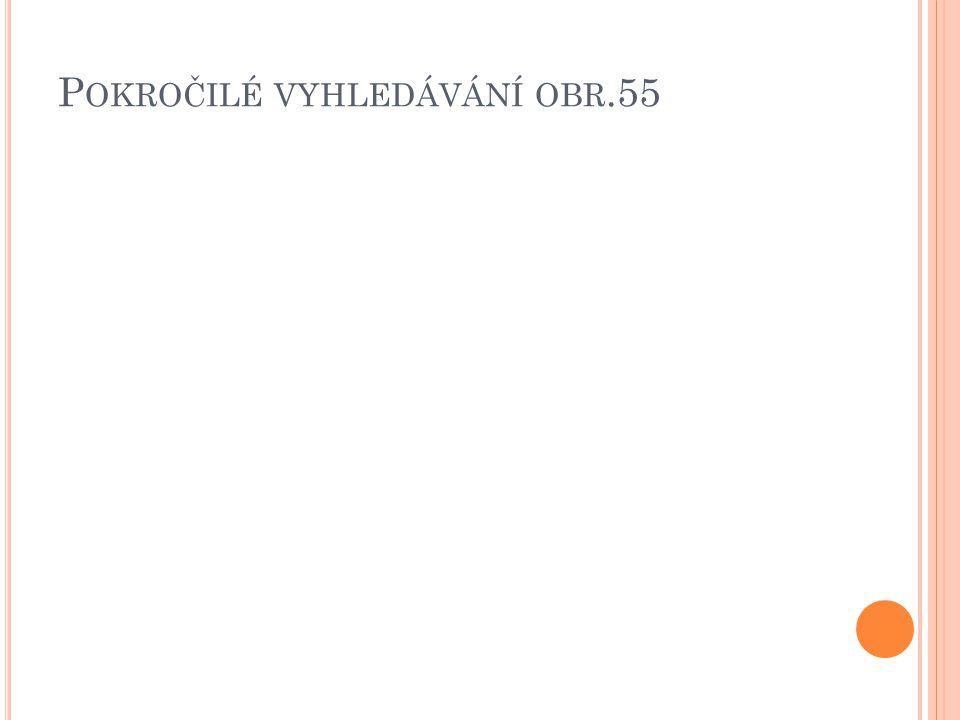 P OKROČILÉ VYHLEDÁVÁNÍ OBR.55