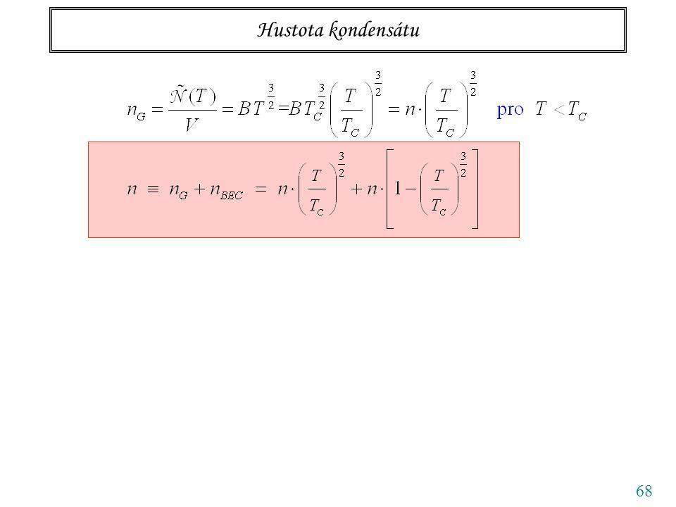 68 Hustota kondensátu plyn kondensát podílpodíl