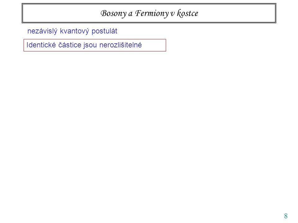 49 Ideální kvantové plyny fermionybosony NN vymrzání FD BE