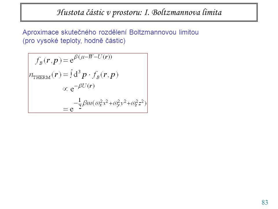 83 Hustota částic v prostoru: I.
