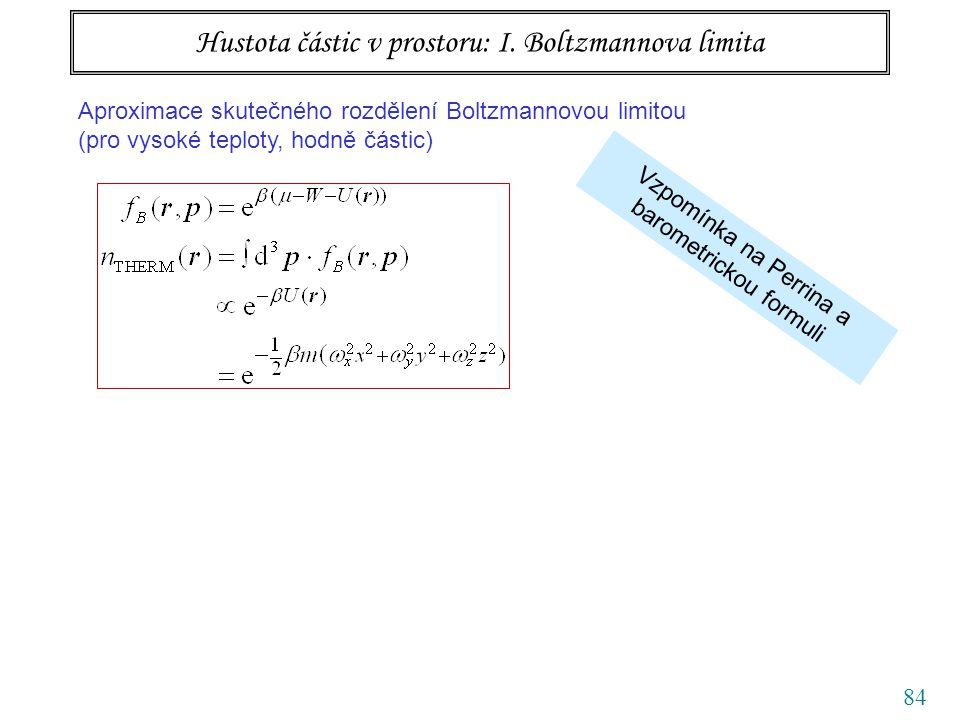 84 Hustota částic v prostoru: I.
