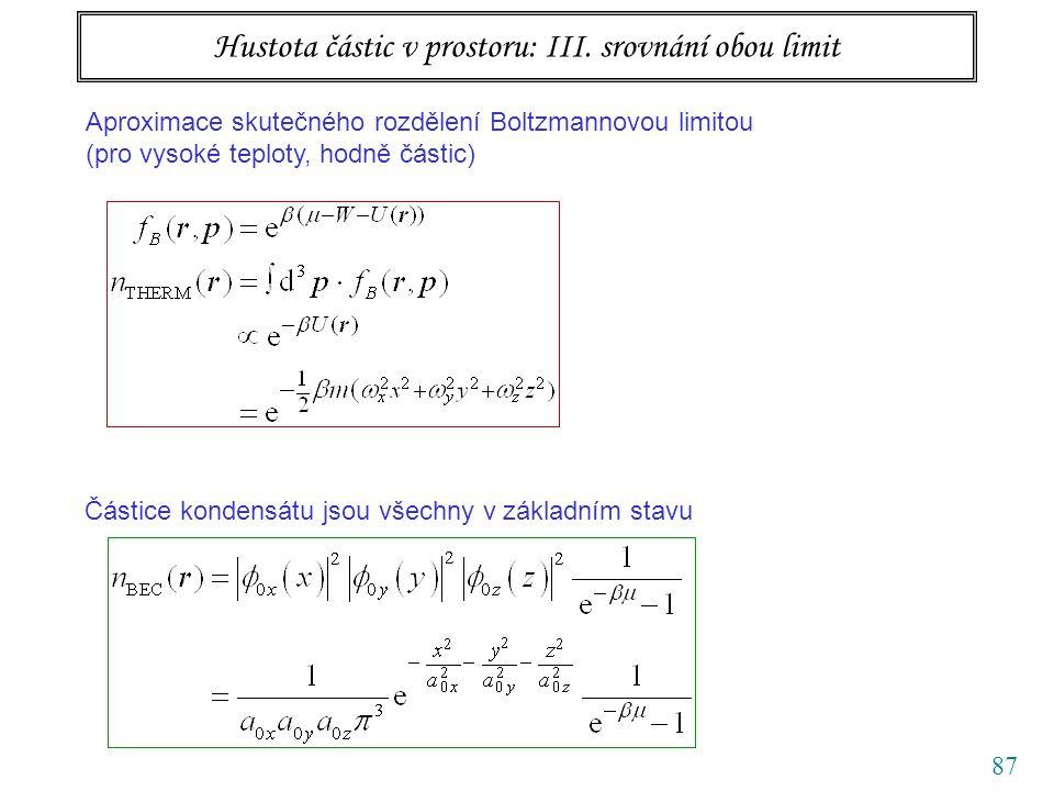 87 Hustota částic v prostoru: III.