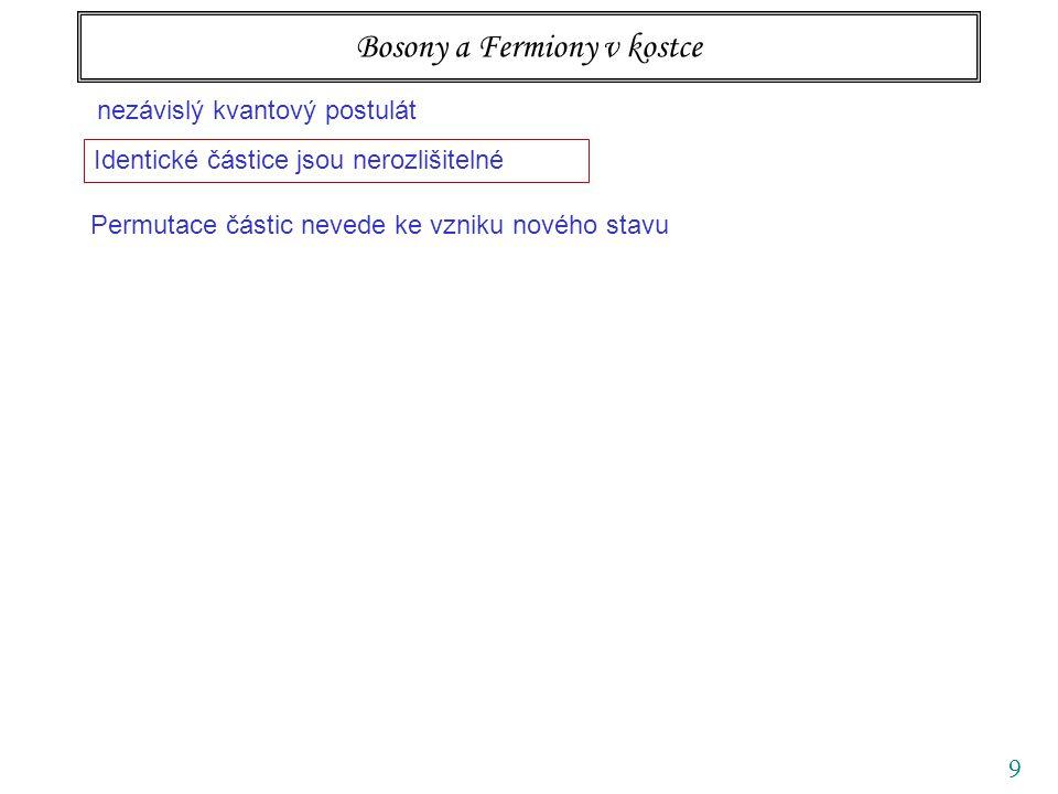 40 Ideální kvantové plyny fermiony N FD