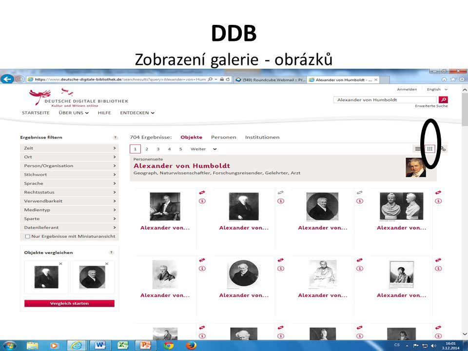 DDB Zobrazení galerie - obrázků