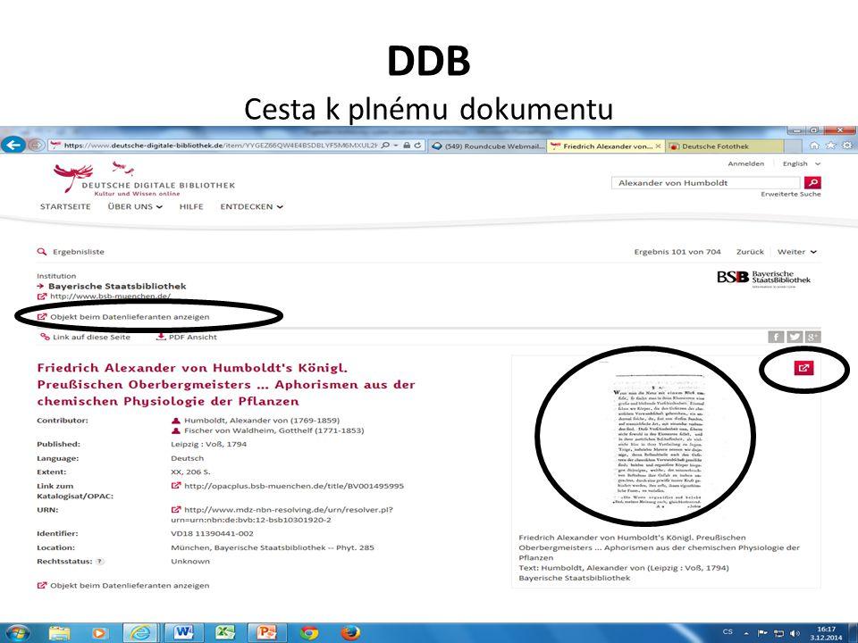 DDB Cesta k plnému dokumentu