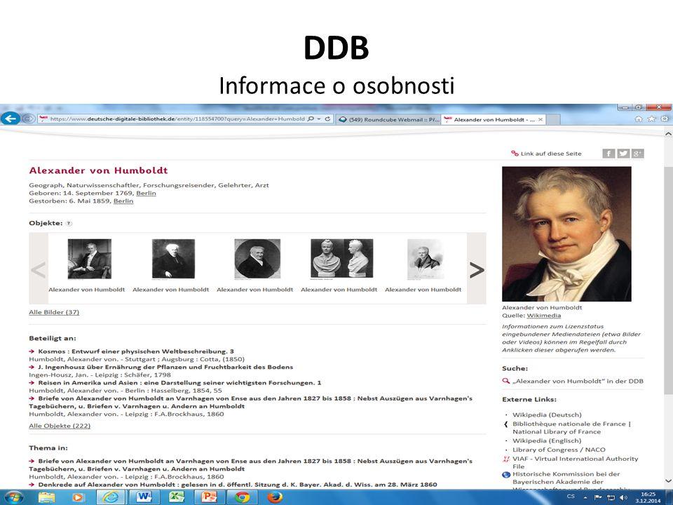 DDB Informace o osobnosti