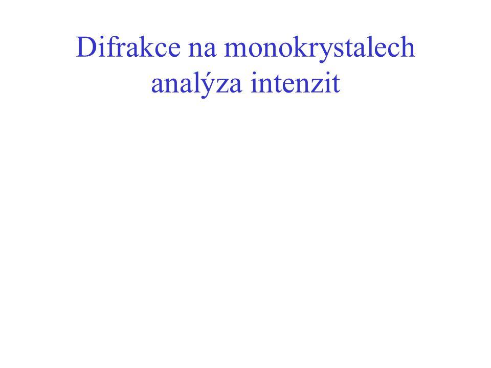 Difrakce na monokrystalech analýza intenzit