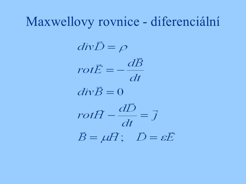 Maxwellovy rovnice - diferenciální