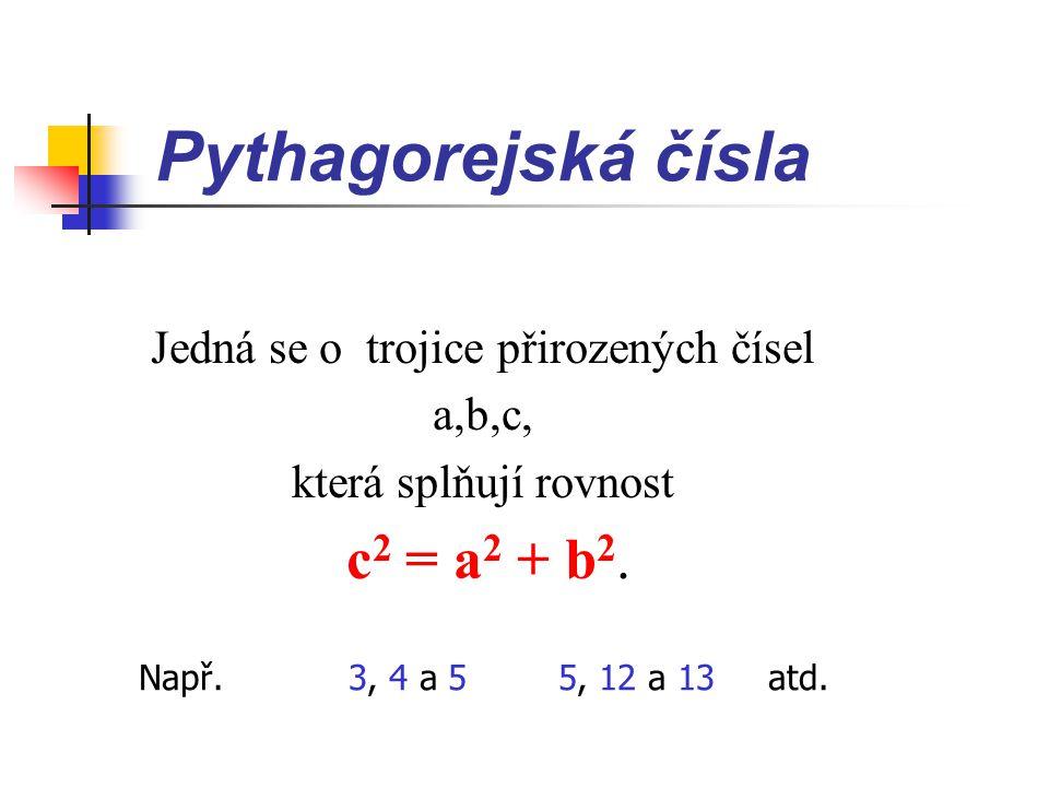 Řešení 1) c 2 = 1500 2 + 1700 2 c 2 = 5140000 c = 2267,2 2) 1500 + 1700 = 3200 3) x = 3200 – 2267,2 x = 932,8 Jezdec si zkrátí cestu o 932,8 m. a c b