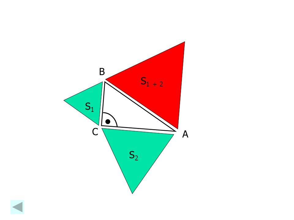 Zobecněná Pythagorova věta Obecně platí: Obsah pravidelného n-úhelníka sestrojeného nad přeponou pravoúhlého trojúhelníka je roven součtu obsahů n-úhe