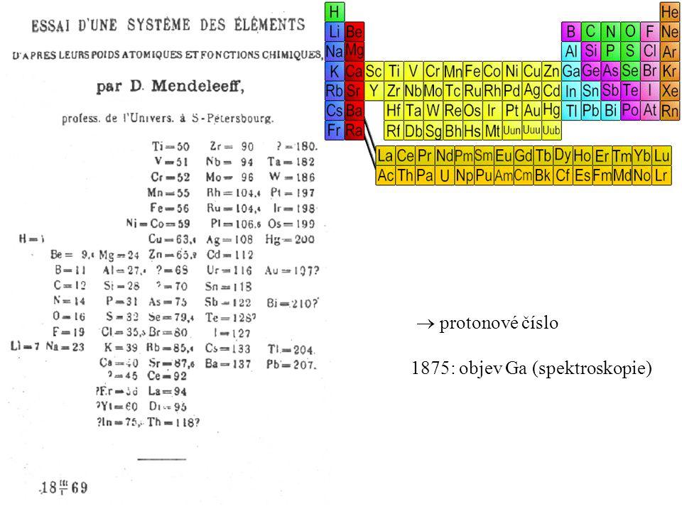 komentář k Bohrovu modelu: - kvaziklasické přiblížení - přenesl ħ na hmotné soustavy (předtím pro popis fotonů) - inspirace pro Heisenberga a kvantový popis atomů (kvantový popis H: stejný výsledek jako Bohr) - nepodařilo se zobecnění na víceelektronové atomy (problém e-e interakce) nutný úplný kvantový popis - neudává pravděpodobnosti přechodů – proč nějaká spektrální čára silnější než jiná.
