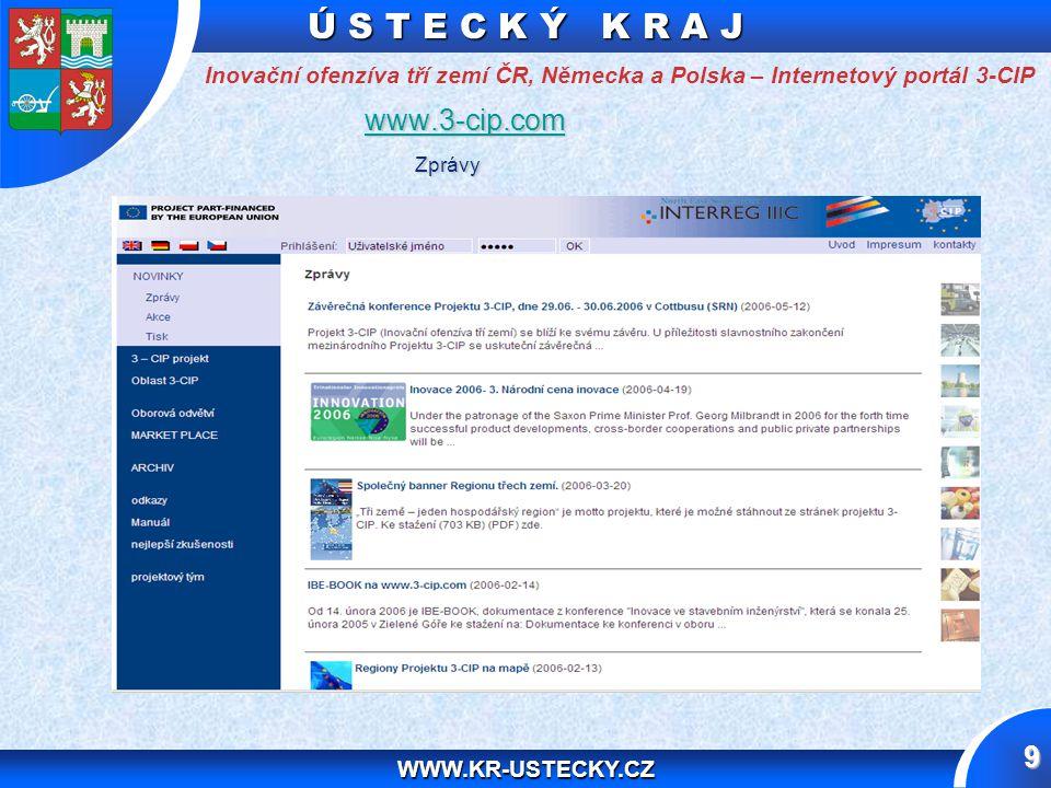 Ú S T E C K Ý K R A J WWW.KR-USTECKY.CZ 10 Manu á l Zahájení projektu / Zahajovací jednání Internetový portál www.3-cip.com Výběr 9 klíčových odvětví ( společné silné stránky ) + 9 týmových manažerů klíčových odvětví 8 oborových konferencí 1.