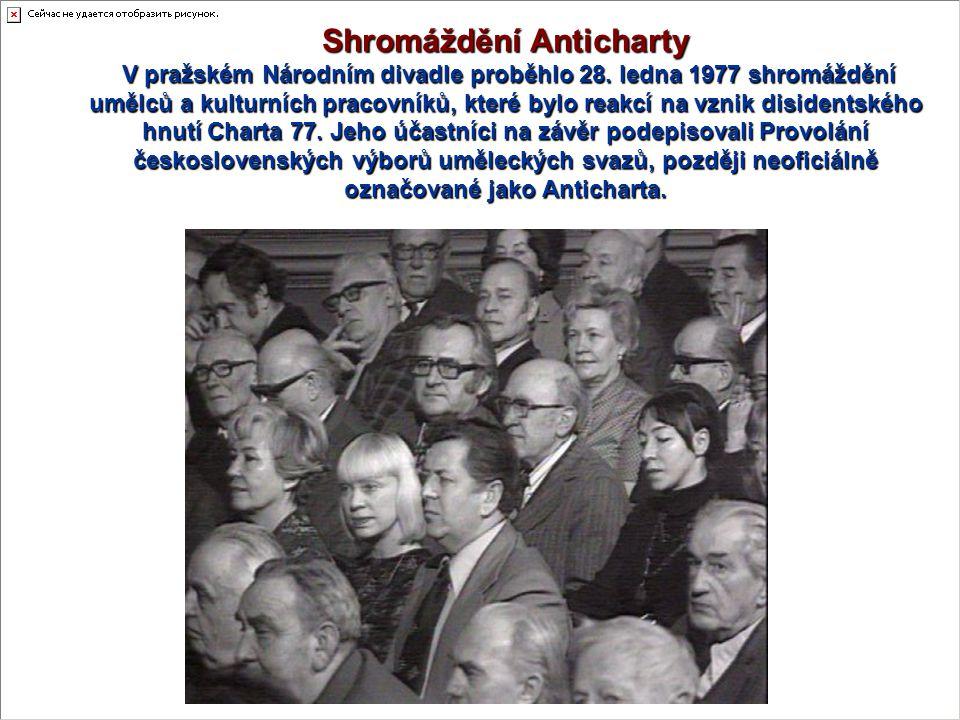 Shromáždění Anticharty V pražském Národním divadle proběhlo 28.