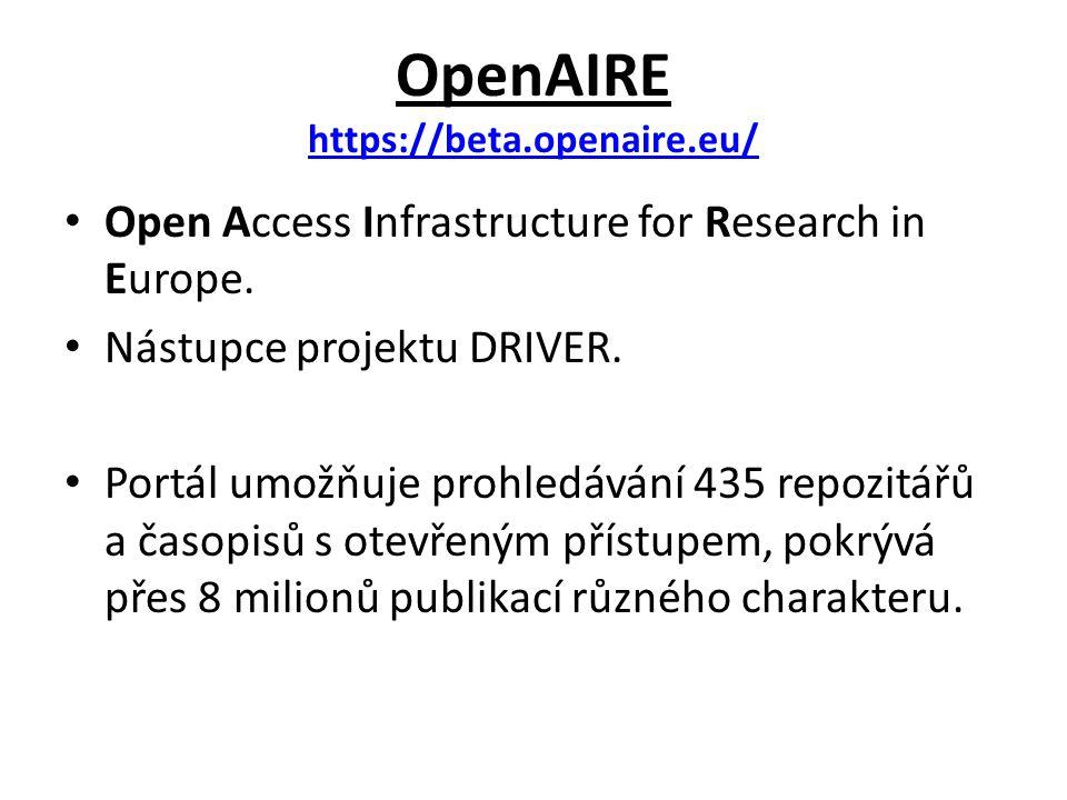 OpenAIRE Vyhledávání