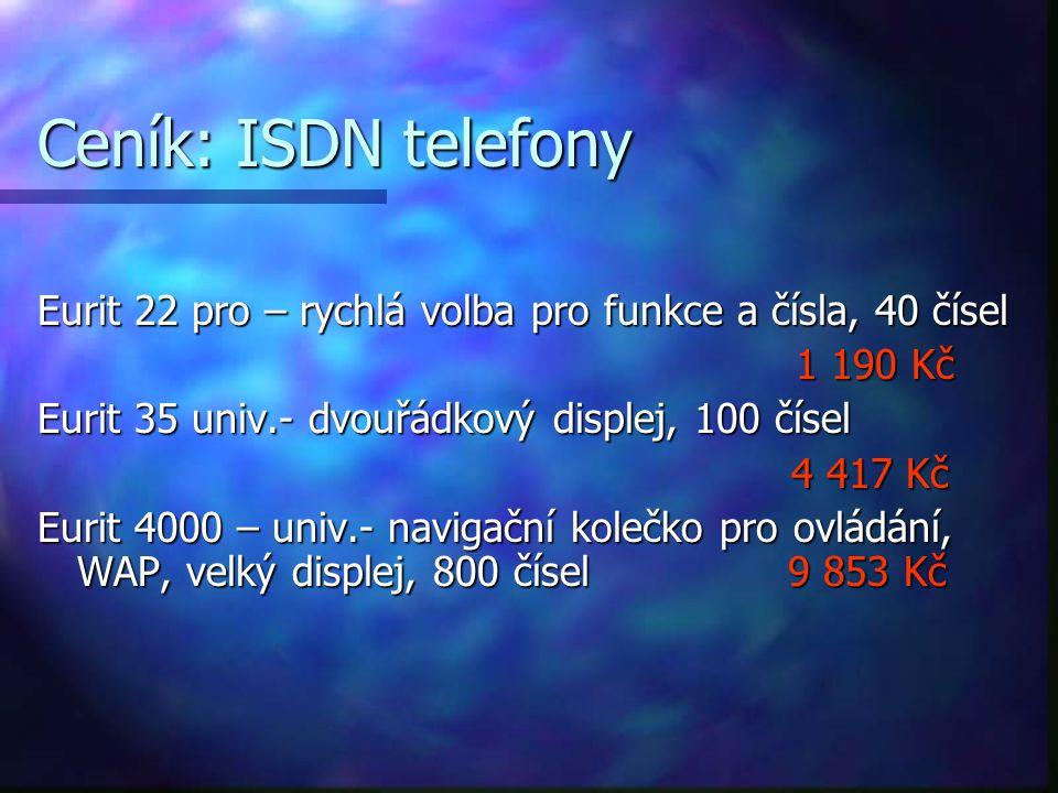 ISDN a data ISDN zařízení vlastně přemění informace všech druhů na digitální signál, přípojkou tedy proudí výhradně data. ISDN zařízení vlastně přeměn