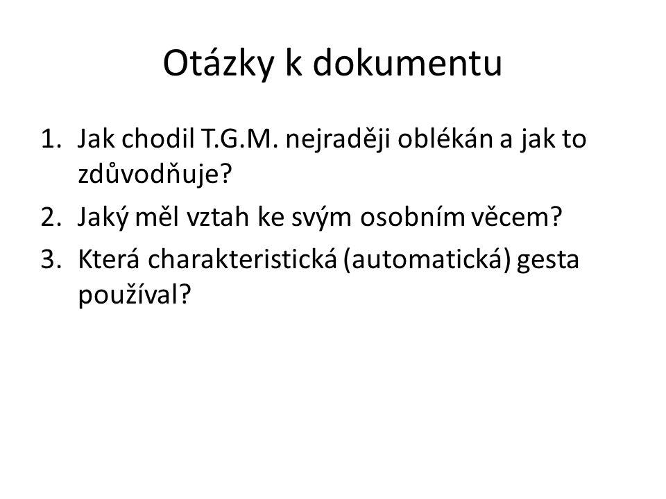 Poznámky Karla Čapka k osobnosti T.G.M.