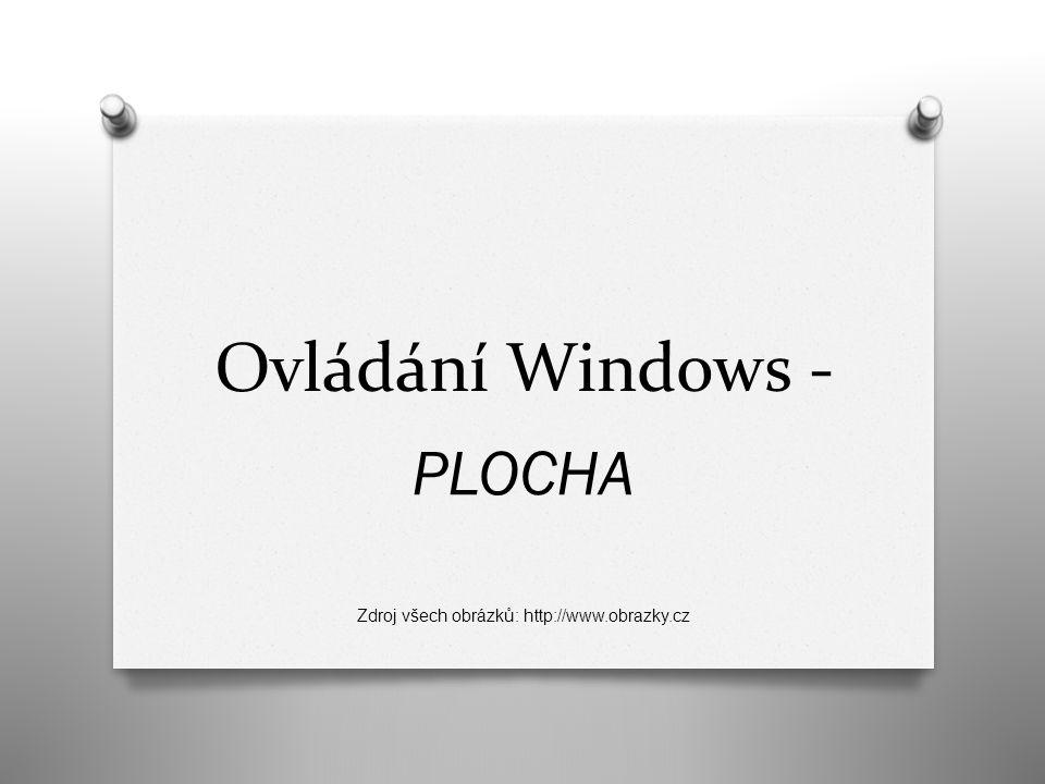 PLOCHA Po zapnutí počítače, po přihlášení na svůj uživatelský účet, je PLOCHA to, co vidíme na monitoru.