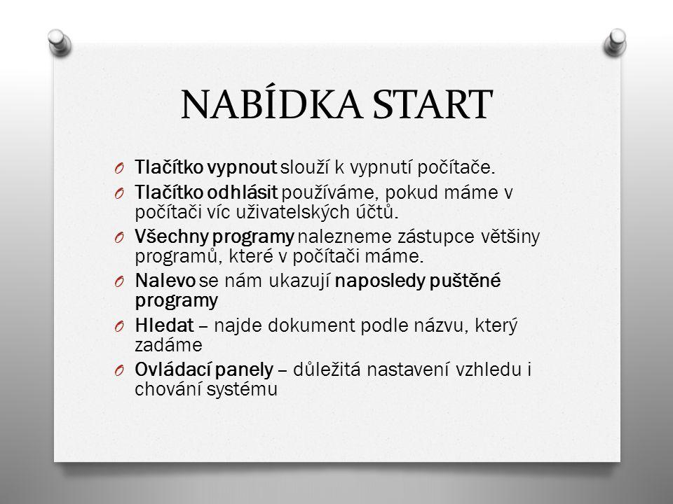 NABÍDKA START