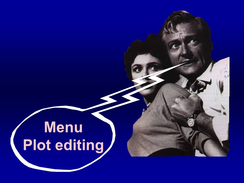 Menu Plot editing