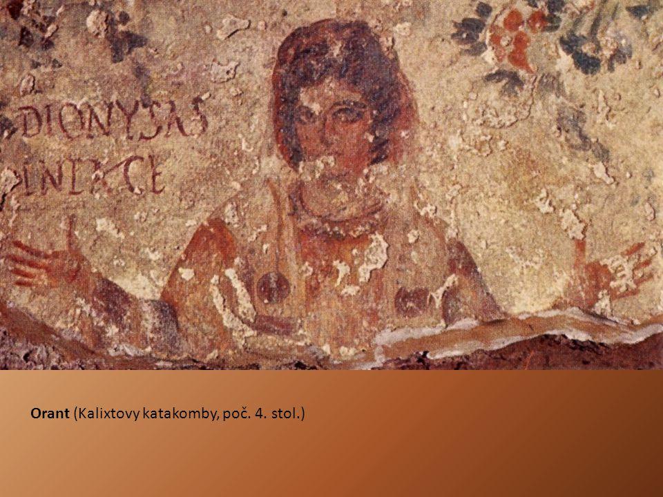 Orant (Kalixtovy katakomby, poč. 4. stol.)