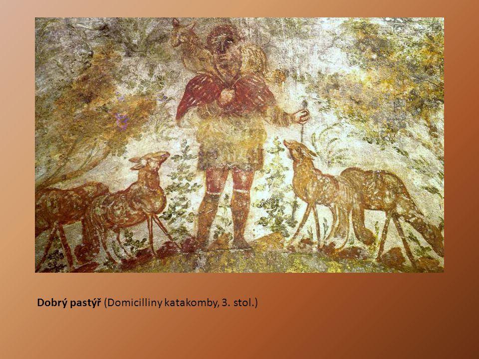Dobrý pastýř (Domicilliny katakomby, 3. stol.)