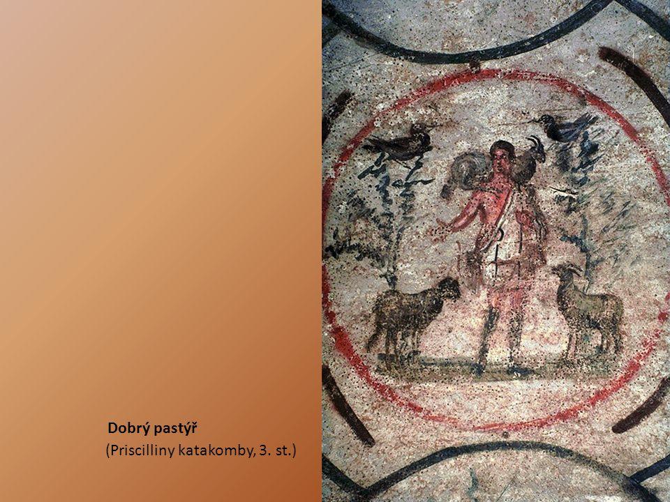 Dobrý pastýř (Priscilliny katakomby, 3. st.)